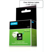 """DYMO® LW Address Labels 1 1/8"""" x 3 1/2"""" Black on Clear"""