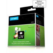 "DYMO® LW Multi-Purpose Labels, Medium 2 1/4"" x 1 1/4"" Black on White"