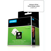 "DYMO® LW Name Badge Labels 2 1/4"" x 4"" Black on White"