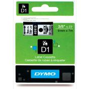 "DYMO® D1 Standard Labels 3/8"" Black on Clear - Pkg Qty 5"