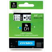 """DYMO® D1 Standard Labels 3/8"""" Black on White"""