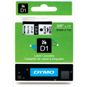 "DYMO® D1 Standard Labels 3/8"" Black on White"