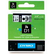 "DYMO® D1 Standard Labels 1/4"" Black on Clear - Pkg Qty 5"