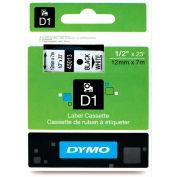 """DYMO® D1 Standard Labels 1/2"""" Black on White"""