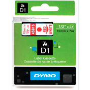 """DYMO® D1 Standard Labels 1/2"""" Red on White"""