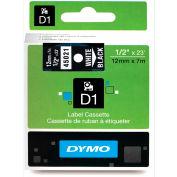 """DYMO® D1 Standard Labels 1/2"""" White on Black"""