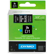 "DYMO® D1 Standard Labels 3/4"" White on Black"