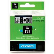 "DYMO® D1 Standard Labels 1"" Black on Clear"