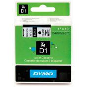 """DYMO® D1 Standard Labels 1"""" Black on White"""
