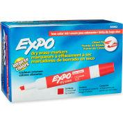 Sanford® Expo Low Odor Dry Erase Marker, Chisel Tip, Red Ink, 12 Per Pack