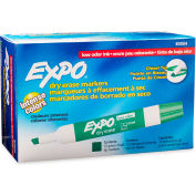 Expo® Low Odor Dry Erase Marker, Chisel Tip, Green Ink, 12 Per Pack