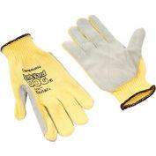 Honeywell Junk Yard Dog® Premium Leather Palm Gloves, Mens Size, 1 Pair