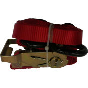 "Safeway 30R10VS 1"" x 10' Ratchet with Vinyl S Hooks 3,000 Lb. Capacity, Yellow"