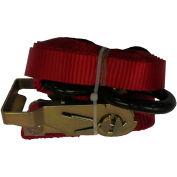 "Safeway 30R16VS 1"" x 16' Ratchet with Vinyl S Hooks 3,000 Lb. Capacity, Yellow"