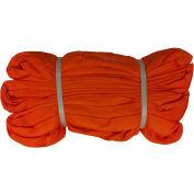 "Safeway SR-9X10 2-1/4"" x 10' Saf/Grip Endless Polyester Round Sling, Orange"