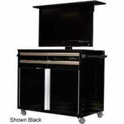 Mobile Television Tool Chest Cabinet, White