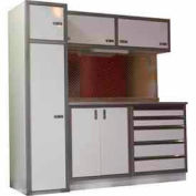 Garage Cabinet Combo Unit, White