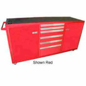 Large Rolling Tool Chest Cabinet, Single Drawer Bank, Black