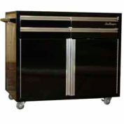Small Rolling Tool Chest Cabinet, Black