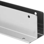 "1 Ear Wall Bracket, 1"" x 54"", 18Ga., No Welds, St. Stainless Steel"