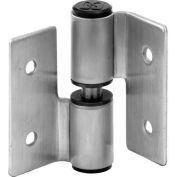 Surface Mounted Hinge Set, LH-In/RH-Out, W/Fasteners, St. Stainless Steel