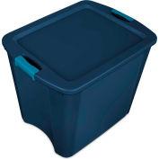 """Sterilite Latch & Carry Tote 14487404 - True Blue/Blue Aquarium 26 Gal. 23-5/8"""" x 18-5/8"""" x 20-1/8"""" - Pkg Qty 4"""