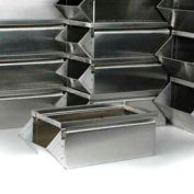 "Stackbin® 1-0SB-SS-GY Stainless Steel 4-1/2""W x 8""D x 4-1/2""H Stacking Hopper Front Container"