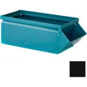 """Stackbin® 5-1/2""""W x 12""""D x 4-1/2""""H Steel Hopper Front Container, Black"""