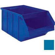 "Stackbin® 1-4PB-BL Plastic Stacking Bin with Front Bar 12-1/2""W x 21""D x 9-1/2""H, Blue"
