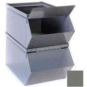 """Stackbin® Removable Hopper Front Cover For 18""""W x 30""""D x 12""""H Steel Bins, Gray"""
