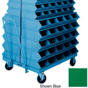 "Stackbin® 3-22STGN Double Sided Mobile Truck for 37""W x 15-1/2""D x 6""H Sectional Bins, Green"