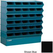 "Stackbin® Steel Hopper Stack Bin, 30 Compartment Sectional Unit, 37""W x 13""D x 36""H, Black"