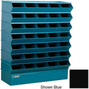 "Stackbin® Steel Hopper Stack Bin, 35 Compartment Sectional Unit, 37""W x 13""D x 42""H, Black"