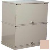 Stackbin® Two-Shelf Lockable X-Ray Storage Cabinet, Beige