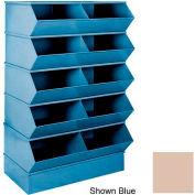 "Stackbin® 3-2SBBG 6"" High Section Bases For 37""W x 15-1/2""D Bins, Beige"