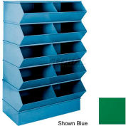 "Stackbin® 3-2SBGN 6"" High Section Bases For 37""W x 15-1/2""D Bins, Green"