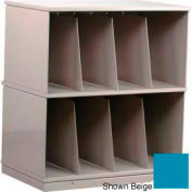 Stackbin® Two-Shelf X-Ray Storage Cabinet, Blue