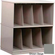 Stackbin® Two-Shelf X-Ray Storage Cabinet, Gray
