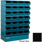 "Stackbin® Steel Hopper Stack Bin, 28 Compartment Sectional Unit, 37""W x 15""D x 58-1/2""H, Black"