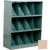Stackbin® Three-Shelf Medical Record Storage Cabinet, Beige