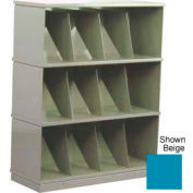 Stackbin® Three-Shelf Medical Record Storage Cabinet, Blue