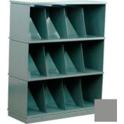 Stackbin® Three-Shelf Medical Record Storage Cabinet, Gray