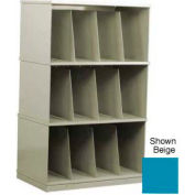 Stackbin® Three-Shelf X-Ray Storage Cabinet, Blue
