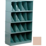 Stackbin® Four-Shelf Medical Record Storage Cabinet, Beige