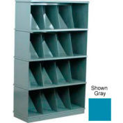 Stackbin® Four-Shelf Medical Record Storage Cabinet, Blue