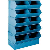 "Stackbin® 3-4SBBL 6"" High Section Bases For 37""W x 20-1/2""D Bins, Blue"