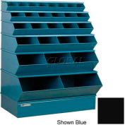 "Stackbin® Steel Stack Bin, 28 Compartment Multi-Size Sectional Unit 37""W x 24""D x 53""H, Black"