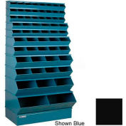 "Stackbin® Steel Stack Bin, 59 Compartment Multi-Size Sectional Unit 37""W x 24""D x 76""H, Black"