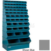 "Stackbin® Steel Stack Bin, 59 Compartment Multi-Size Sectional Unit 37""W x 24""D x 76""H, Gray"