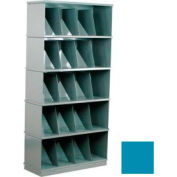 Stackbin® Five-Shelf Medical Record Storage Cabinet, Blue